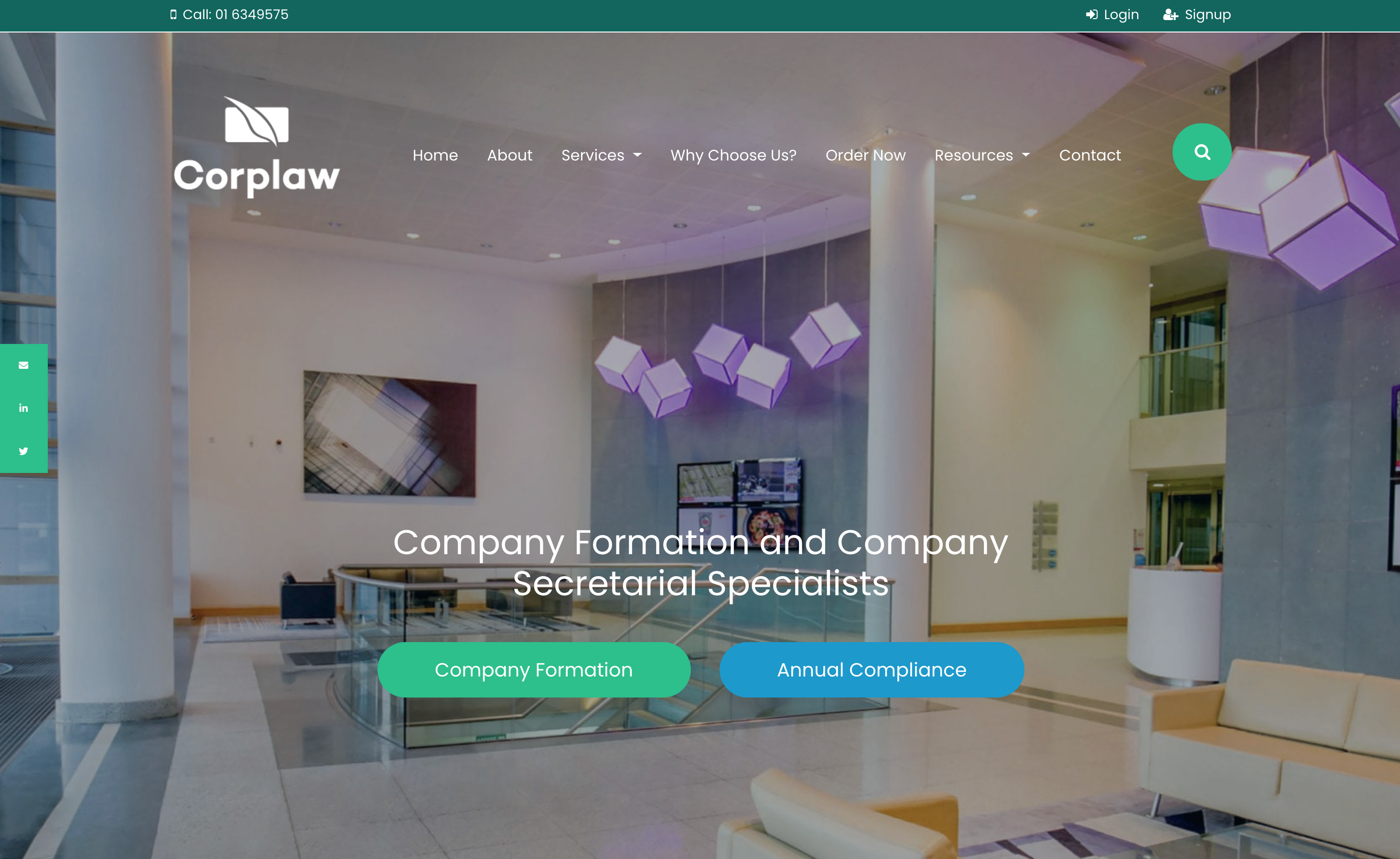 The New Corplaw Website with a Whole New Look - Homepage