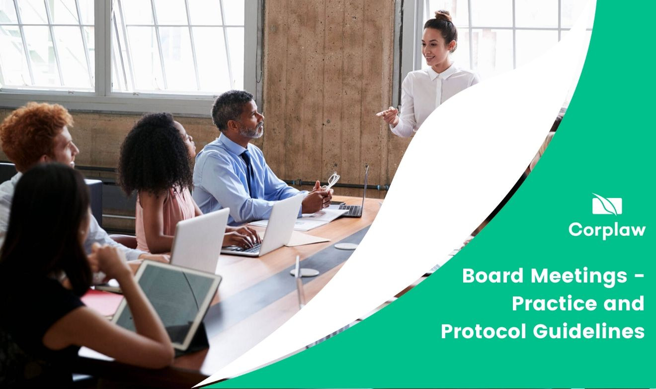 Board Meetings – Practice and Protocol Guidelines